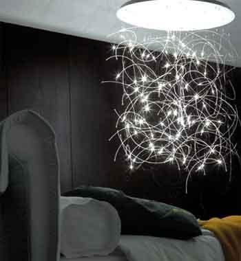 Lustres de fibra ótica