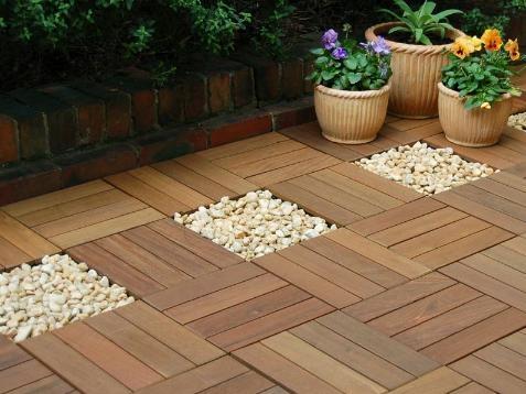 Deck de madeira composto