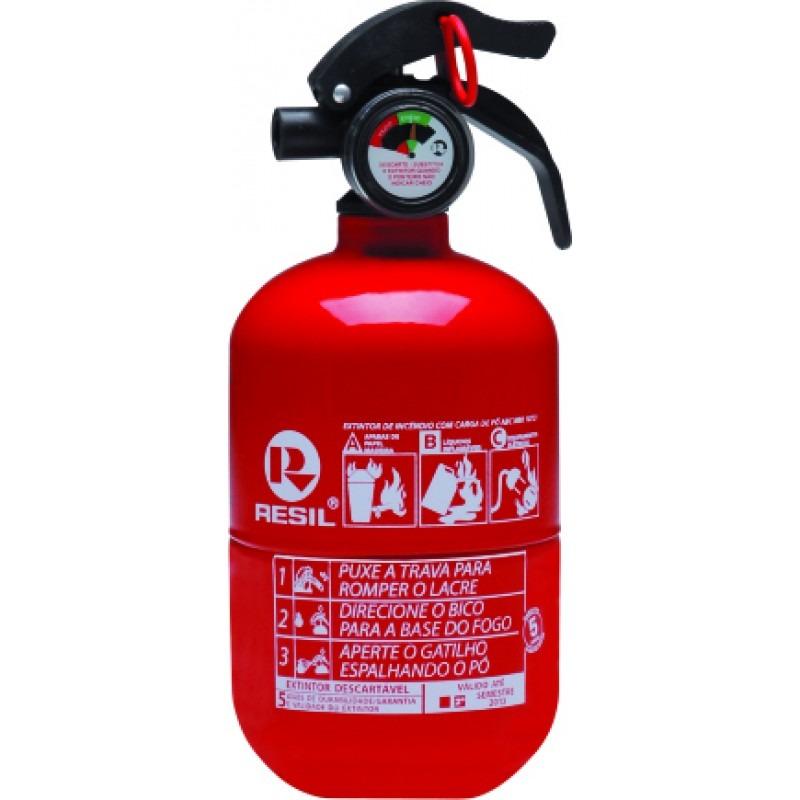 Extintor de incêndio tamanho pequeno
