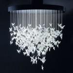 Lustres modernos com borboletas