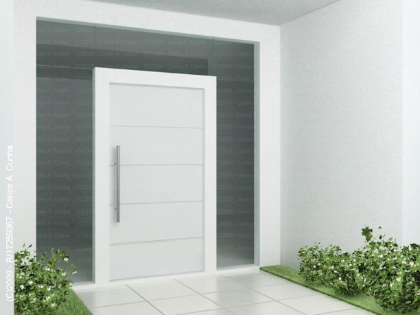 porta pivotante vidro