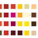 Tabela de cores de tintas