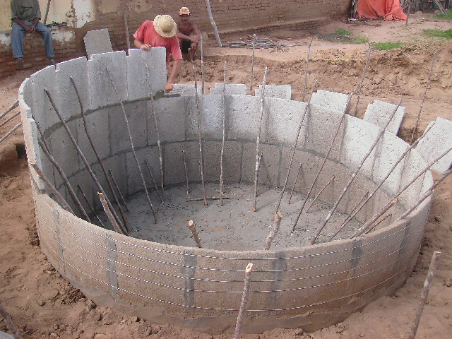 cisterna pré-moldada