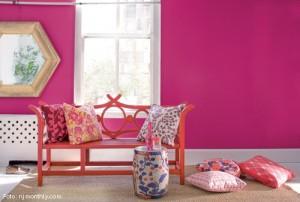 Cor de tinta rosa
