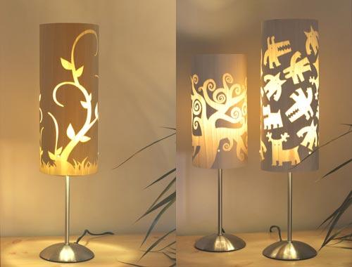 Luminárias de motivos florais