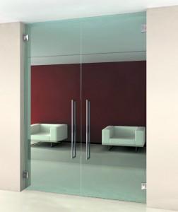 Porta dupla de vidro