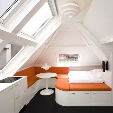 como decorar apartamento pequeno no sótão
