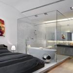 decoração de quarto de casal com banheiro
