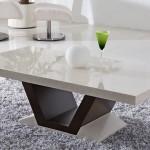 Mesinha para sala feita com granito branco absoluto polido, e com design bem moderno