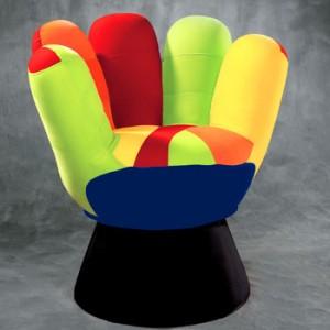 poltronas decorativas coloridas