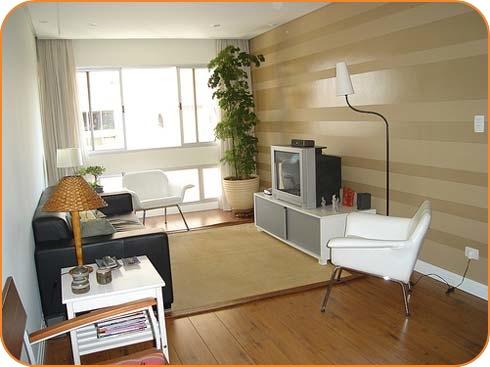 decoração de apartamentos pequenos com madeira