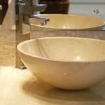 cuba de banheiro de mármore