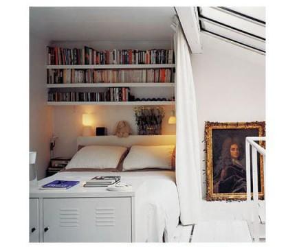 Decoração de apartamentos pequenos com livros