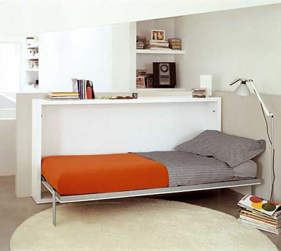 decoração de apartamento pequeno com cama
