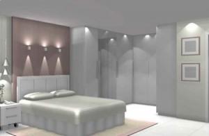 decoração de quarto de casal com pontos de luz