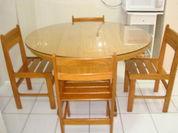 MESA DE MADEIRA  para cozinha, sala ou de janta # Cozinha Decorada Com Mesa De Madeira