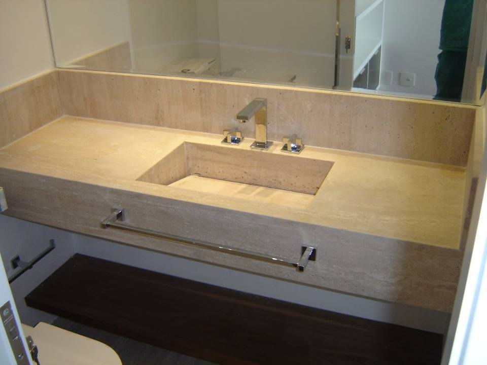 Granito→ +35 Tipos, Cores e Modelos  Preços de Granito AQUI!!! -> Pia Banheiro Granito Preto