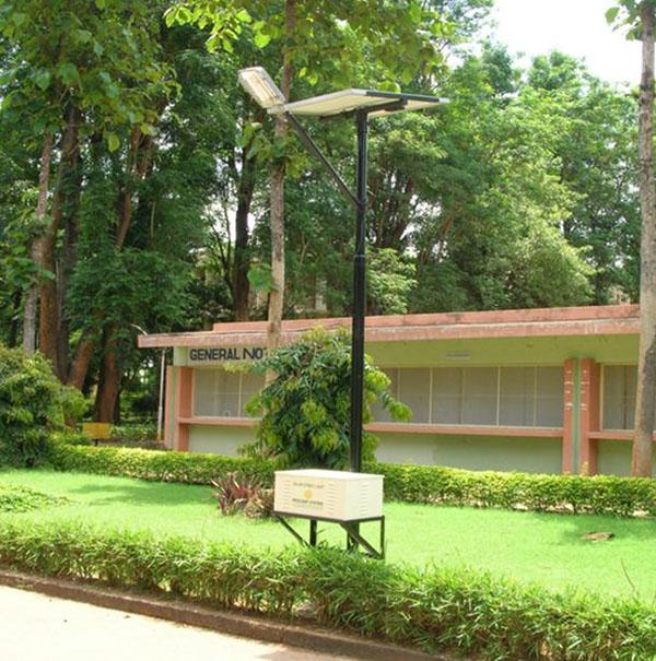 iluminacao de jardim energia solarposte solar com painel