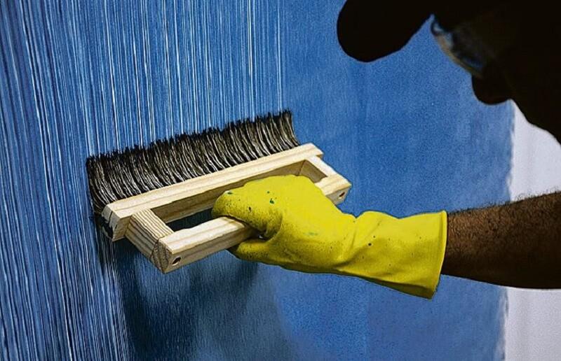 aplicação de texturas em paredes