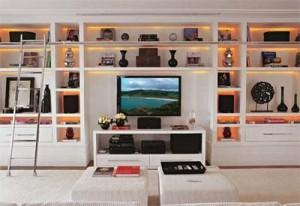estante ampla para sala de TV