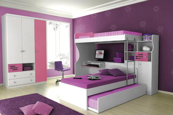 guarda roupas planejado em quarto de menina