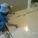Instalação deporcelanato com junta seca