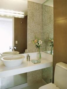 lavabos com espelho pequenos