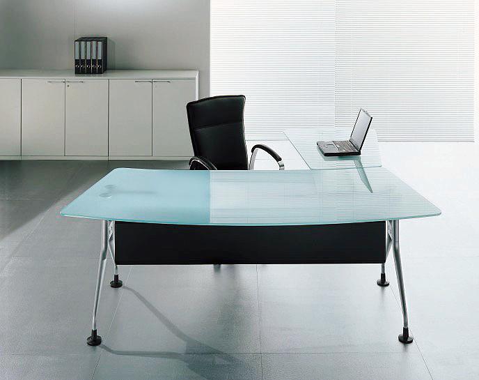 Mesa em vidro para escritório