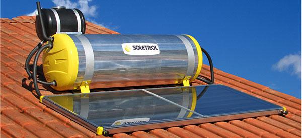aquecedor solar com placa e boiler