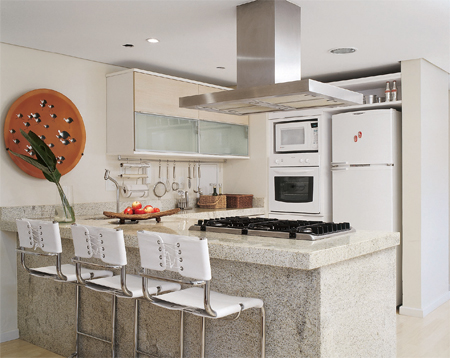 Balcão de pedra para cozinha americana