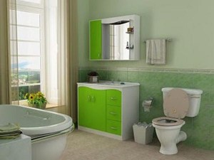 decoração verde para banheiro