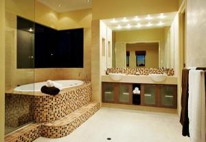 banheiro decorado em estilo contemporâneo