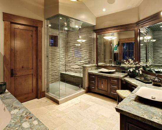 banheiro decorado tradicional