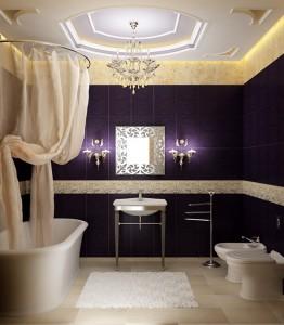 banheiro incrível decoração bicolor