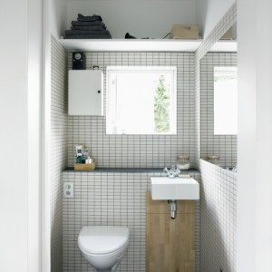 banheiro pequeno, quase como um lavabo