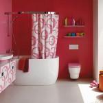banheiro rosa decorado