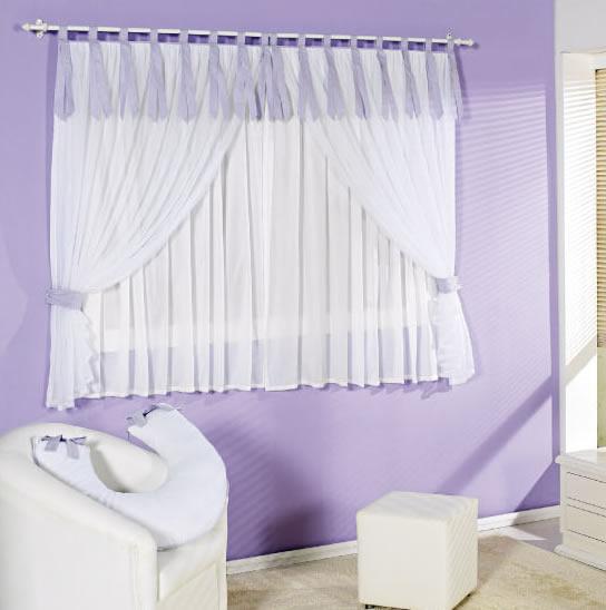 cortina neutra para quarto infantil