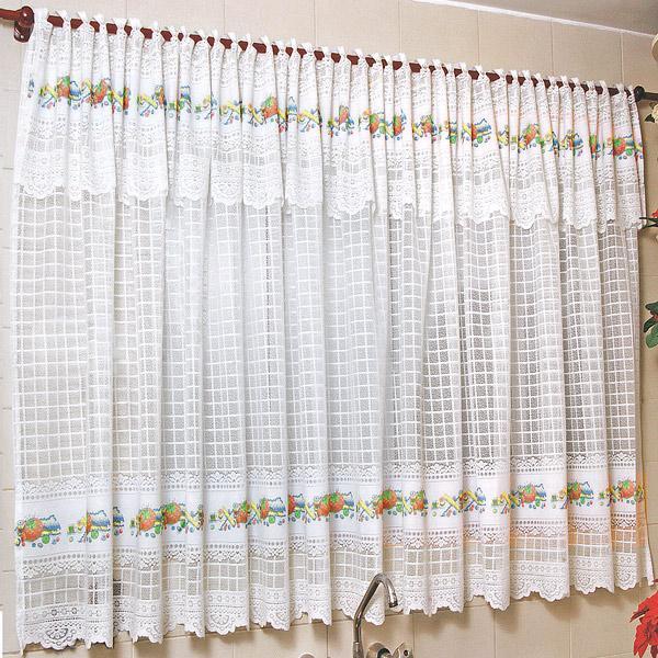 cortina na cozinha com motivos culinários