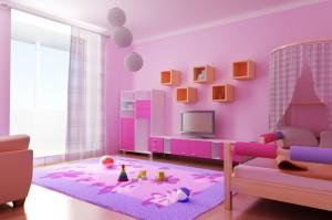 decoração de quarto infantil rosa