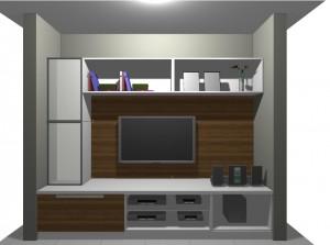estante para a sala modular