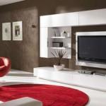 estante branca moderna para a sala