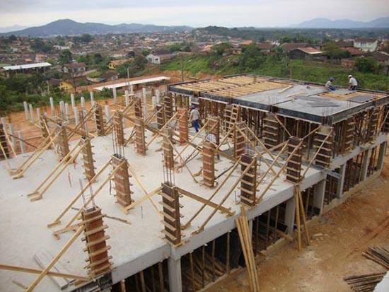 estrutura em concreto armado
