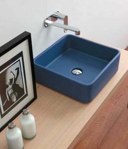 cuba para lavabo azul, mudando a cara do ambiente
