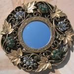 moldura redonda para espelhos decorativos