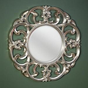moldura redonda artística vintage para espelho