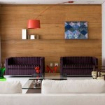 parede de painel de madeira