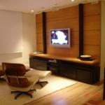 painel de madeira para TV