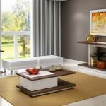 quadro moderno na sala sobre a lareira