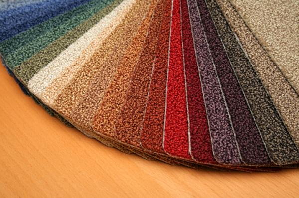 diversas cores de tapetes simples