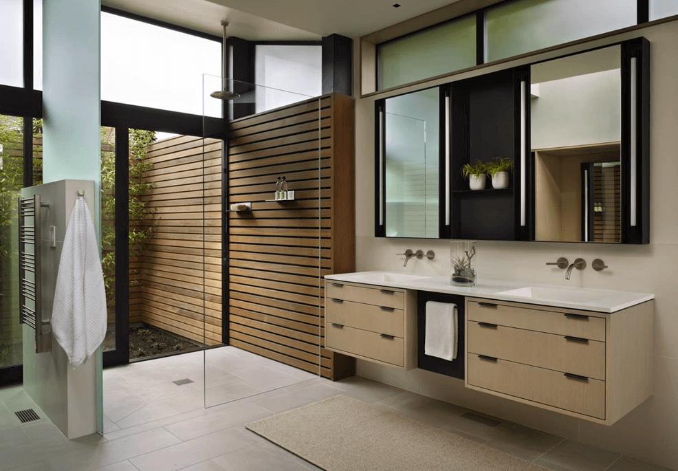 móveis para um banheiro moderno